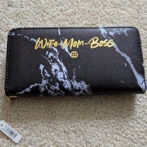 Simply Southern Wife Mom Boss Wallet with zipper
